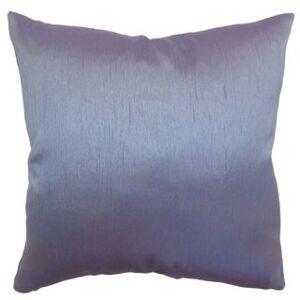 The Pillow Collection Rosamund Solid Euro Sham Violet (Queen Sham)