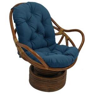 Blazing Needles 48-inch Swivel Rocker Cushion (Sea blue)