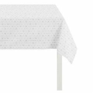Apelt Luxury Tablecloth, Loft Style Collection for Party, Festive Dinner, Thanksgiving or Christmas (White - 60 x 102 Inches - Geometric)
