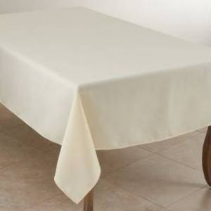 Saro Lifestyle Everyday Design Solid Color Tablecloth (90 x 120 - Ivory - Rectangle)