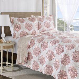 Laura Ashley Coral Coast Reversible Cotton 3-piece Quilt Set (King - 3 Piece)