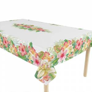 Laural Home Tropical Island 70x120 Tablecloth (Single - Pink)