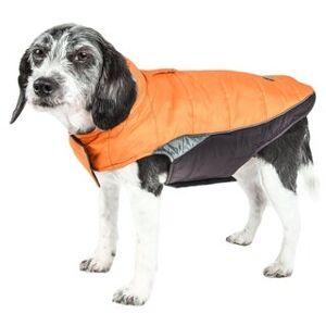 Helios Hurricane-waded Reflective Dog Plush Coat with Blackshark Technology (Extra large - sporty orange)