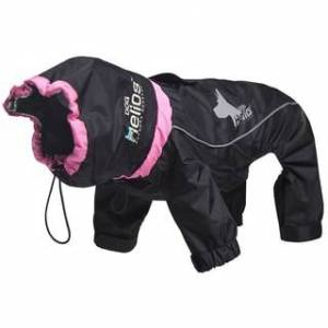 Helios Weather-King Blue/Red/Black Polyester Ultimate Windproof Full-bodied Pet Jacket (Medium - Black)