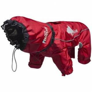 Helios Weather-King Blue/Red/Black Polyester Ultimate Windproof Full-bodied Pet Jacket (X-Small - Red)