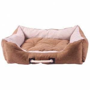 Touda Original Toy US Co.,Ltd Purrrfect Life Polyester/Linen Cat or Dog Bed (Large - Coffee)