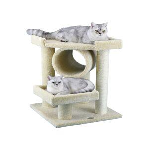 "Go Pet Club 27-inch Premium Cat Tree - Beige (19""W x 19""L x 27""H, beige)"