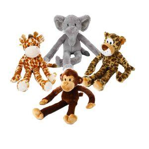 Multipet International Multipet Swingin' Safari Multicolor Plush Dog Toy (Leopard)
