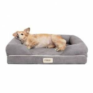 JLA Home Friends Forever Hastings Pet Couch with Solid Memory Foam (Small - Grey)