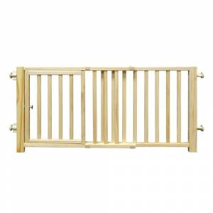 """Four Paws Smart Design Walkover Pressure Mounted Gate with Door Beige 30"""" - 44"""" x 1"""" x 18"""" - N/A"""