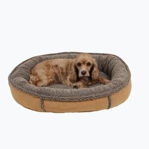 Carolina Pet Company Carolina Pet Faux Suede Round Orthopedic Comfy Cup (Small - Saddle)