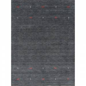 """Overstock Soft Charcoal Contemporary Gabbeh Little Animal Area Rug Wool Handmade - 5'9"""" x 7'8"""" (5'9"""" x 7'8"""" - Charcoal)"""