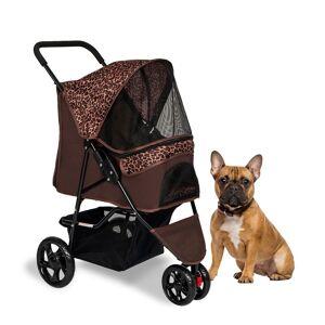 Kinpaw Foldable Dog Stroller, Pet Jogger Stroller w/ Removable Liner, Travel Carrier for Small Medium Cat & Dog