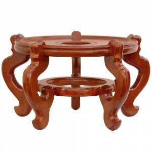 "OrientalFurniture Handmade 9"" Rosewood Honey Fishbowl Stand (9"" Rosewood Fishbowl Stand - Honey (China))"