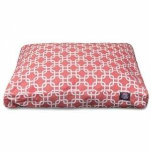 Majestic Pet Product Majestic Pet Links Rectangle Dog Bed (Coral - Small - Small)