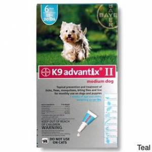 K9 Advantix II (6-pack) (11-20 lbs - Teal)