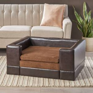 Christopher Knight Home Doggerville Large Rectangular Cushy Dog Sofa by Christopher Knight Home (Brown)