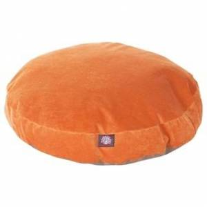 Majestic Pet Product Majestic Pet Grey Villa Collection Round Large/ Extra Large Dog Bed with Removable Washable Cover (Large - Orange)