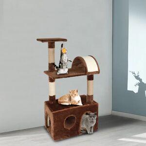 "LivEditor 38"" Cat Climb Holder Tower Cat Tree Brown (Brown)"