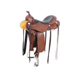 "Overstock Cashel Western Saddle Adult Trail Lightweight Padded Chocolate (16"")"