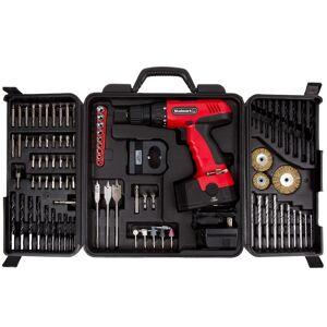 Stalwart 18V Cordless 89-piece Drill Set (Red)