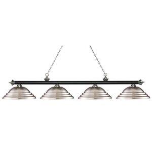 Avery Home Lighting Riviera Matte Black & Brushed Nickel 4-lights Matte Black & Brushed Nickel Island/Billiard (Lights)
