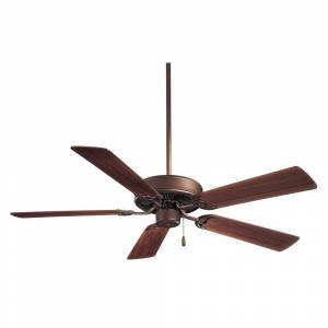 "Minka Aire Contractor 52"" Ceiling Fan in Oil Rubbed Bronze finish w/ Medium Maple blades by Minka Aire (Oil Rubbed Bronze)"