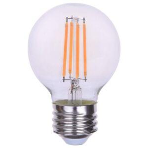 Goodlite 4.5W Filament Vintage LED G16.5 Globe E26 Standard Base Dimmable, 600 Lumens 60W Equ Warm White 2700k  (10 Pack) (warm white 2700k)