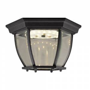 """Design House 578518 Canterbury 10-13/16"""" Wide Integrated LED Outdoor - Black (Black)"""