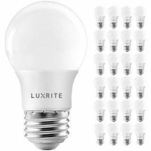 Overstock Luxrite A15 LED Light Bulb, 40W Equivalent, Dimmable, 600 Lumens, Enclosed Fixture Rated, Energy Star, E26(24 Pack) (4000K (Cool White))