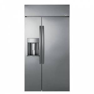 """GE Profile Series 48"""" Built-In Side-by-Side Refrigerator with Dispenser (2 - Stainless Steel - Side by Side)"""
