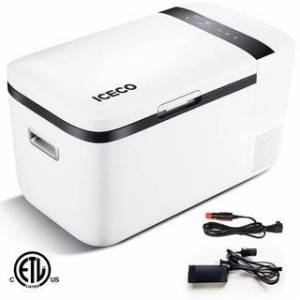 YDE Glitzhome 20 Liter/21 Quart Portable Refrigerator Freezer (White)