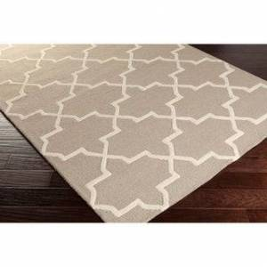 Overstock Hand-Tufted Liam Moroccan Tiled Wool Rug (grey/teal - 6' x 9')