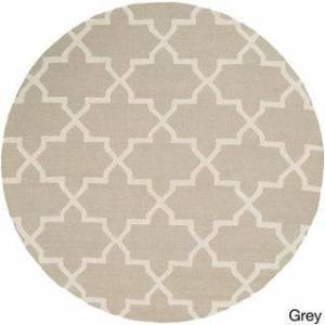 Overstock Hand-Tufted Penny Moroccan Tiled Wool Rug (6')