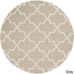 Overstock Hand-Tufted Ethel Moroccan Tiled Wool Rug (grey/teal - 8')