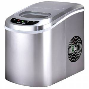 Overstock Costway Sliver Portable Compact Electric Ice Maker Machine Mini Cube (Silver)