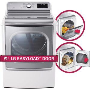 LG DLGX7701WE 9.0 cu.ft. MEGA Capacity TurboSteam Dryer with EasyLoad Door in White (DLGX7701WE)