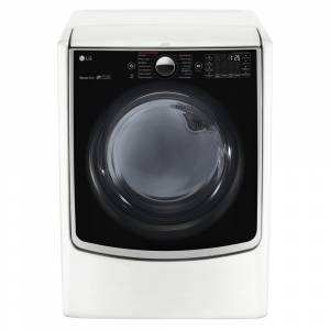LG DLGX5001W 7.4 cu.ft. Ultra Large Capacity TurboSteam Gas Dryer with On-Door Control Panel in White (DLGX5001W)
