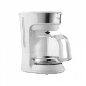 Overstock White 12 Cup Instant Drip Coffee Brewer Machine with Glass Carafe
