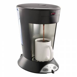 Bunn My Cafe Pourover Commercial Grade Coffee/Tea Pod Brewer, Stainless Steel, Black