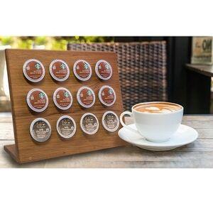 Overstock Teak Coffee Pod Holder (12 Pod)