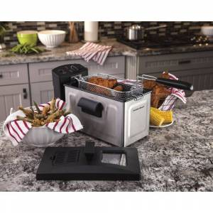 Hamilton Beach Stainless Steel 8 Cup Professional Style Deep Fryer (Stainless Steel)