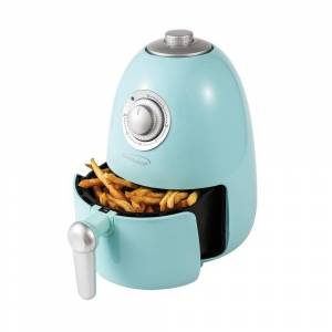 Brentwood 2 Quart Small Electric Air Fryer in Blue with Timer (Blue)