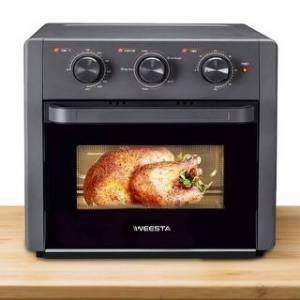 Overstock WEESTA Air Fryer Oven,Convection Oven with Air Fry Broil Bake Function - 15.1 (Width) * 14.3 (Depth) * 14.1 (Height) inches (Black)