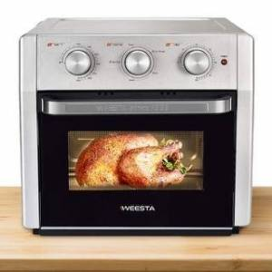Overstock WEESTA Air Fryer Oven,Convection Oven with Air Fry Broil Bake Function - 15.1 (Width) * 14.3 (Depth) * 14.1 (Height) inches (White)