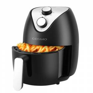 Cosmo 2.3 Quart Air Fryer with Temperature Control, Timer & Auto Shut-Off (Black)
