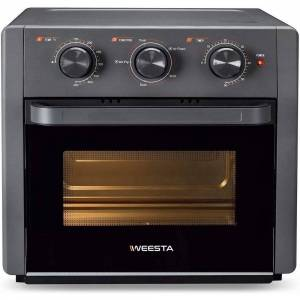 Overstock WEESTA Air Fryer Toaster Oven, 5-IN-1 Countertop Convection Oven w/ Rotisserie,Grey - 15.1 W * 14.3 D * 14.1H inches (15.1 W * 14.3 D * 14.1H inches