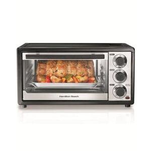 Hamilton Beach Black 6-slice Capacity Toaster Oven w/ Broiler (Black/Silver)