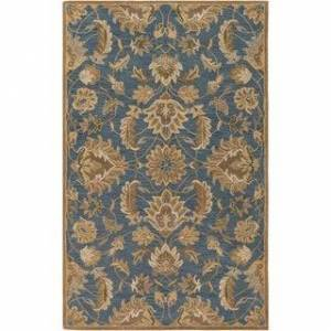 Overstock Hand-tufted Ty Traditional Wool Area Rug (2' x 3' - Denim)