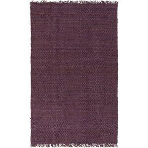 Overstock Hand-Woven Iowa Solid Jute Area Rug (4' x 6' - Purple)